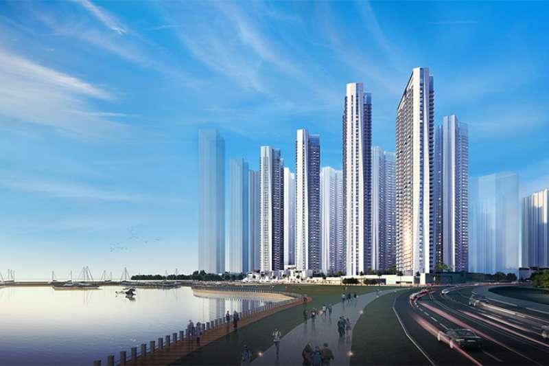 20181202-南海控股在產開發與物業管理上,較不具明顯績效,目前主要以中國影城為收入來源。而目前也僅深圳投資的建案「半島•城邦」,總建築面積約36.2萬坪。(取自南海控股網站)