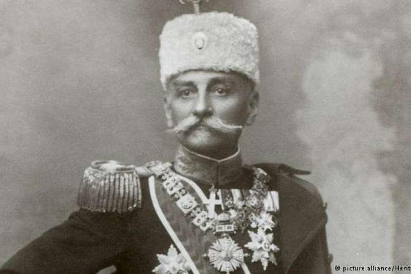 塞爾維亞國王彼得一世,此後成為南斯拉夫王國國王。(德國之聲)