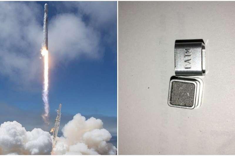 百名往生者骨灰搭「獵鷹 9 號」火箭上太空。(圖/翻攝自YouTube,智慧機器人網提供)