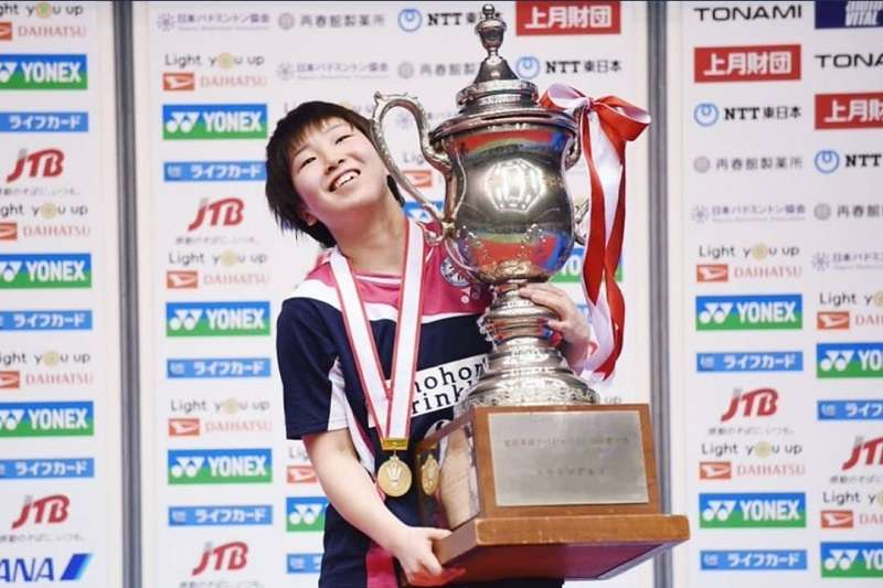 山口茜與奧原希望激戰3局後勝出,奪下日本全國錦標賽女單2連霸。 (圖片取自Instagram)