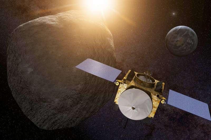 可能撞擊地球的近地小行星「貝努」。(取自NASA)