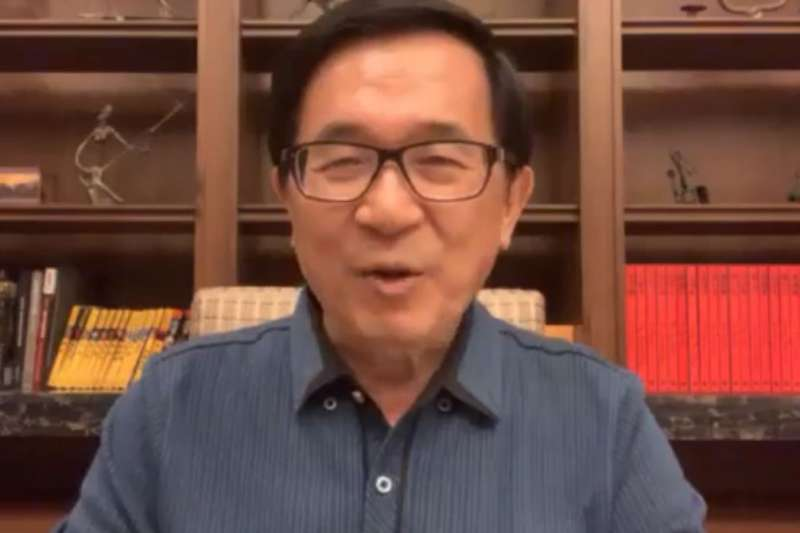 前總統陳水扁5日上午在臉書發布一段影片,提及20多年前被韓國瑜在立法院毆打的事件,害怕自己在外頭運動時被襲擊,擔心市民覺得「市長可以打陳水扁,市民為何不行」?(取自YonGe Chen臉書)