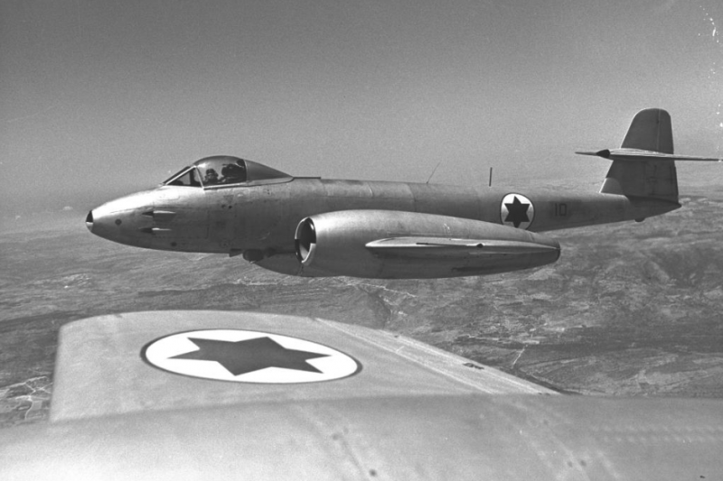 gggaE:圖為以軍的格羅斯特流星戰鬥機。(取自維基百科)
