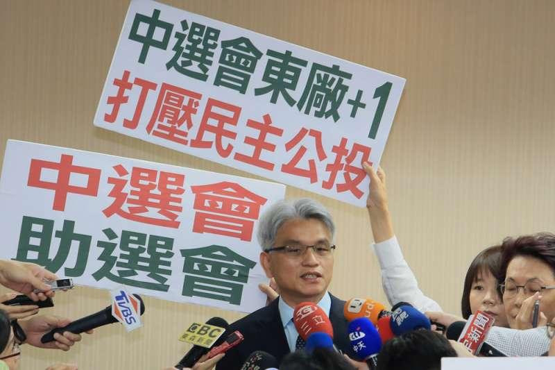 陳英鈐因個人意識形態,任中選會主委時有不少爭議作為。(柯承惠攝)