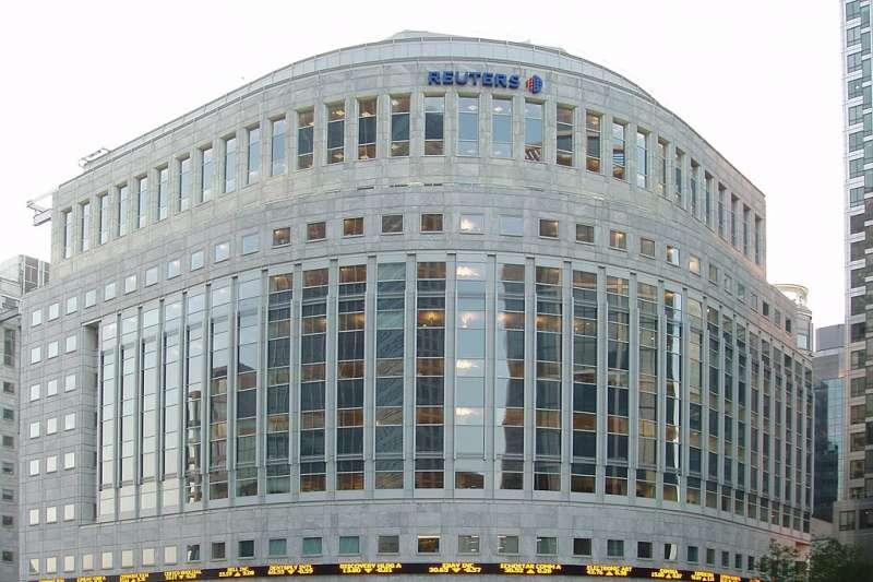位於英國倫敦金絲雀碼頭的《路透》通訊社大樓。(GhostInTheMachine  @ Wikipedia / CC BY-SA 2.0)