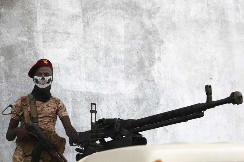 葉門內戰,葉門政府士兵。(AP)