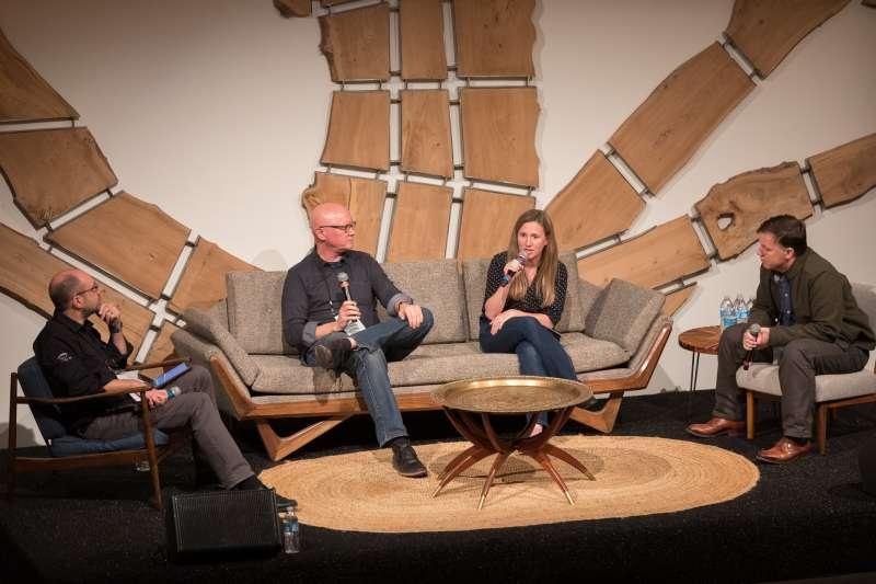 2018-12-06 座談會嘉賓由左到右:Fred Bould(Bould Design)、Chrissy Meyer(Root Ventures)、Gregor Berkowitz(GBA)(作者楊建銘提供)