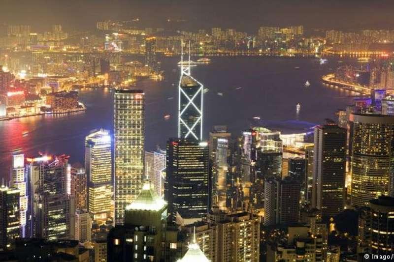 香港的繁華夜景。(德國之聲)