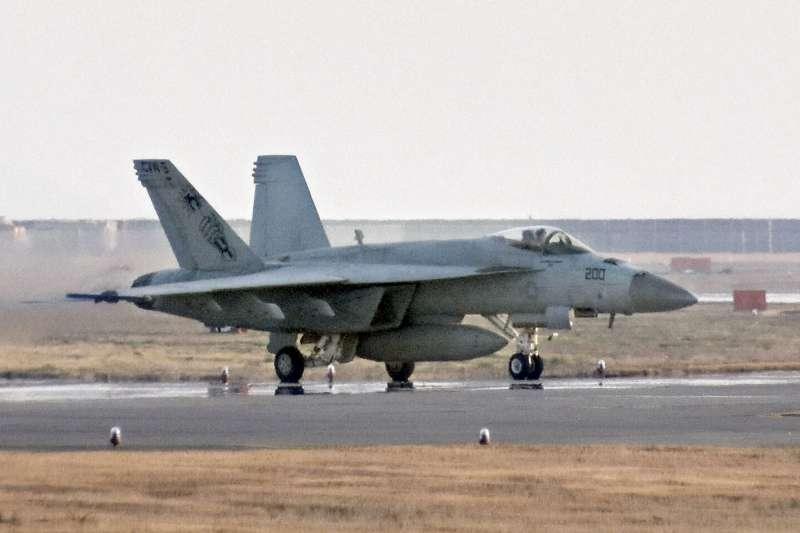 駐日美軍陸戰隊墜海意外:F/A-18「大黃蜂」戰機(AP)