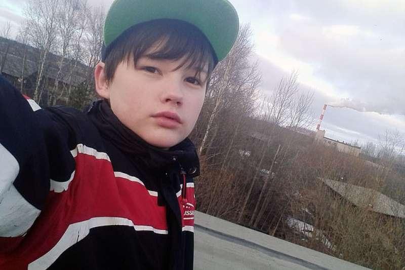 英勇救母的俄羅斯16歲少年克拉比文(取自You Tube)
