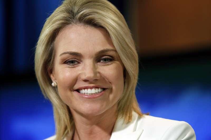 美國新任駐聯合國大使被提名人、國務院發言人諾爾特(Heather Nauert )(AP)