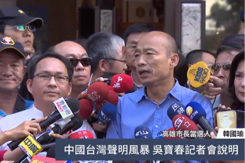 「我是中國人」挨轟》吳寶春說「吳寶春還是吳寶春」 韓國瑜:他不懂政治-風傳媒