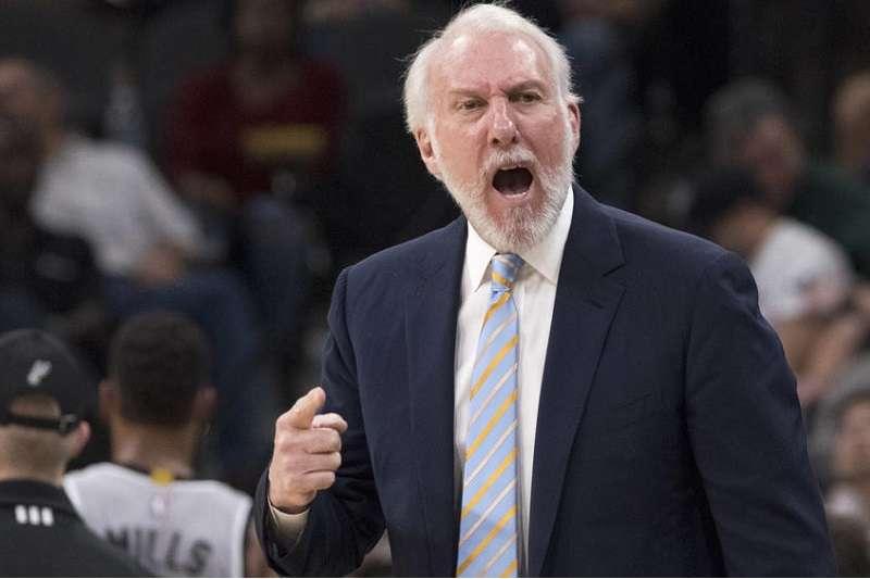 波波維奇成為NBA歷史上勝場第4多的總教練。(美聯社)