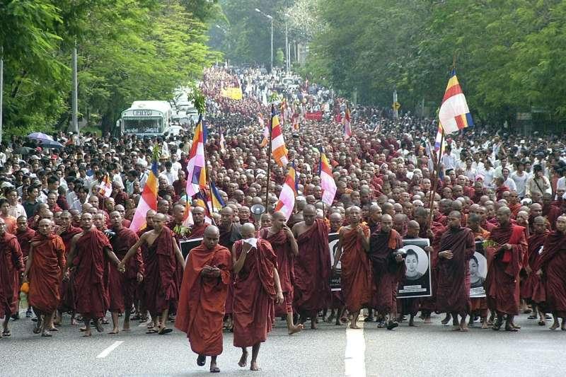 2007年緬甸「番紅花革命」(AP)