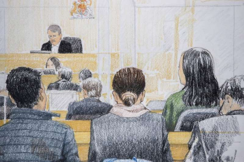 加國法院11日終於同意孟晚舟交保。(美聯社)