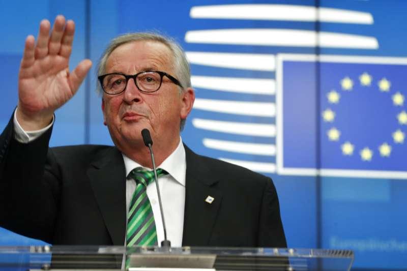 2018年12月13日,歐盟執委會主席容克。(AP)