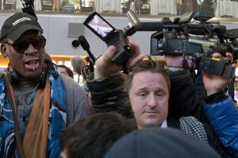 遭中國逮捕的加拿大商人斯帕佛(Michael Spavor)曾安排前NBA球星羅德曼訪問平壤(AP)