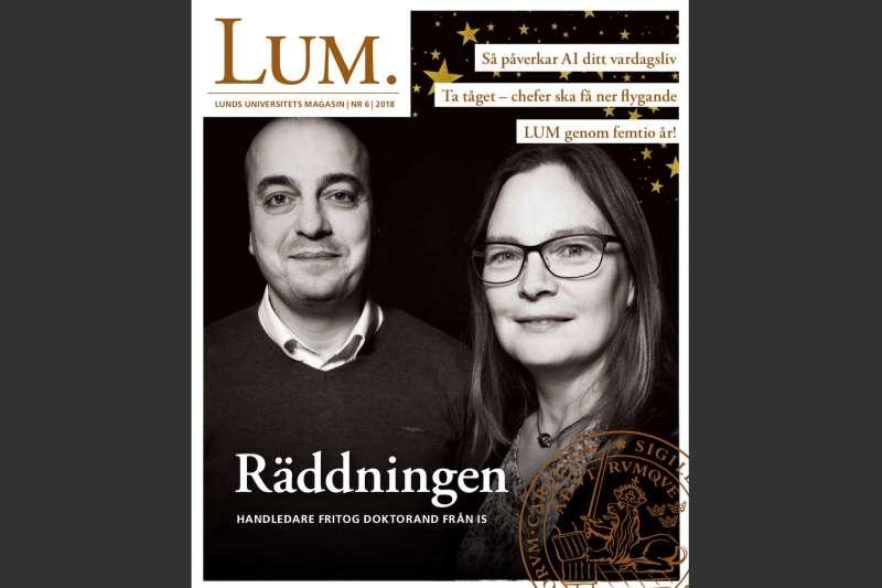 特納與祖瑪成了隆德大學校刊的封面人物。