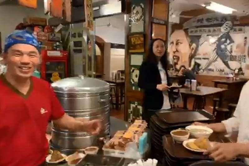 「郭家肉粽」傳出因「挺邁」而得罪「韓粉」。陳其邁15日前往郭家肉粽替老闆加油打氣。(資料照,取自陳其邁 Chen Chi-Mai臉書影片)