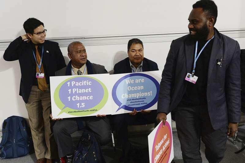 氣候變遷:南太平洋島國的氣候變遷運動者積極推動倡議(AP)