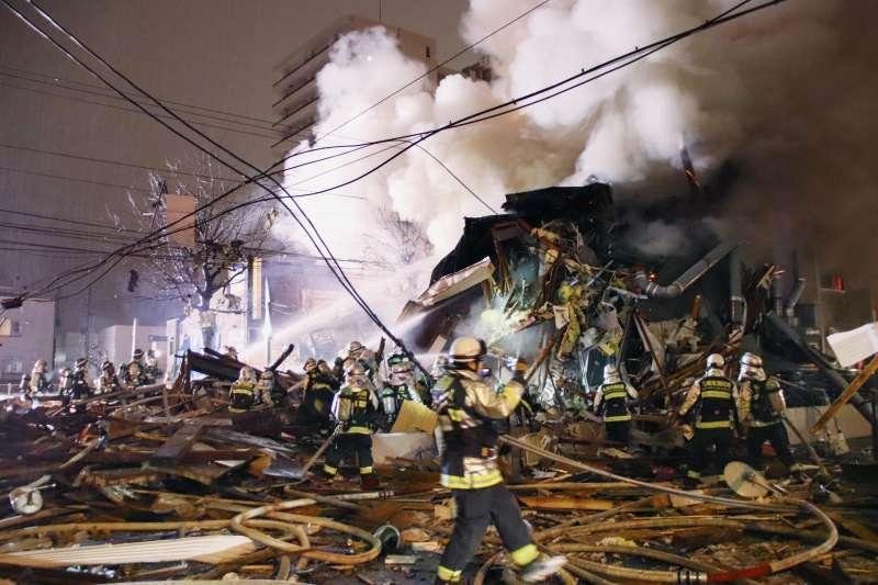 2018年12月16日,日本北海道札幌市一家居酒屋發生爆炸(AP)