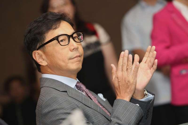 台灣大哥大董事長蔡明忠今(12)日出席台灣優視電視(MOMOTV)全台第一4K電視頻道家族記者會,並對台灣的有線電視產業發表看法。(資料照片,郭晉瑋攝)