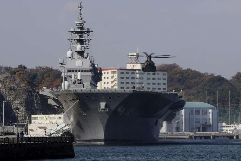 大日本帝國海軍軍神之稱的東鄉平八郎是奠定日本現代海軍的重要人物。圖為現今日本海上自衛隊主力艦「出雲號」(JS Izumo)直昇機護衛艦(資料照,美聯社)
