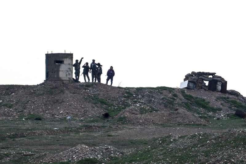 庫德族民兵團體人民保衛軍(YPG)。(美聯社)