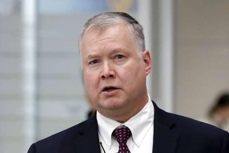 2018年12月19日,美國對北韓政策特別代表畢甘(Stephen Biegun)。(AP)