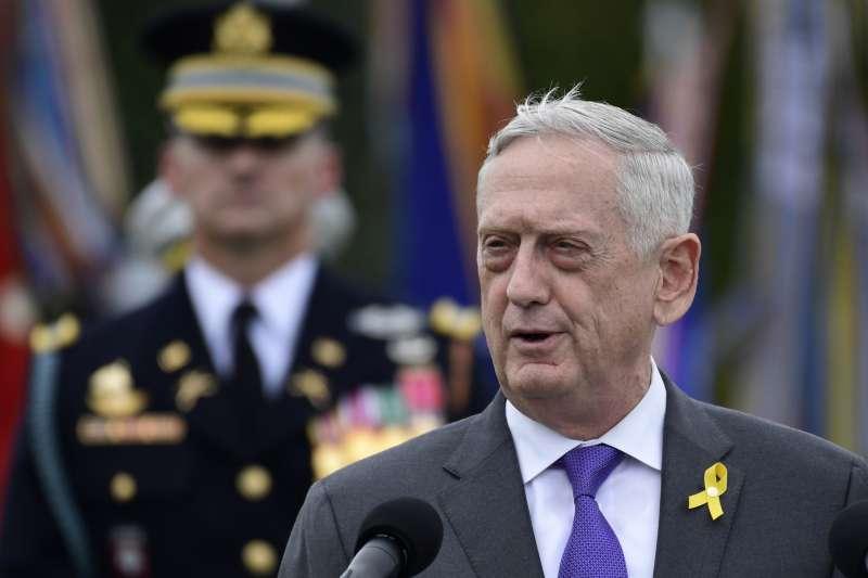 2018年12月20日,美國國防部長馬提斯(Jim Mattis)宣布辭職,這是他的辭呈(資料照,AP)