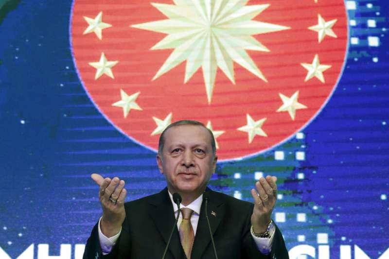 土耳其總統艾爾多安(Recep Tayyip Erdoğan)。(AP)
