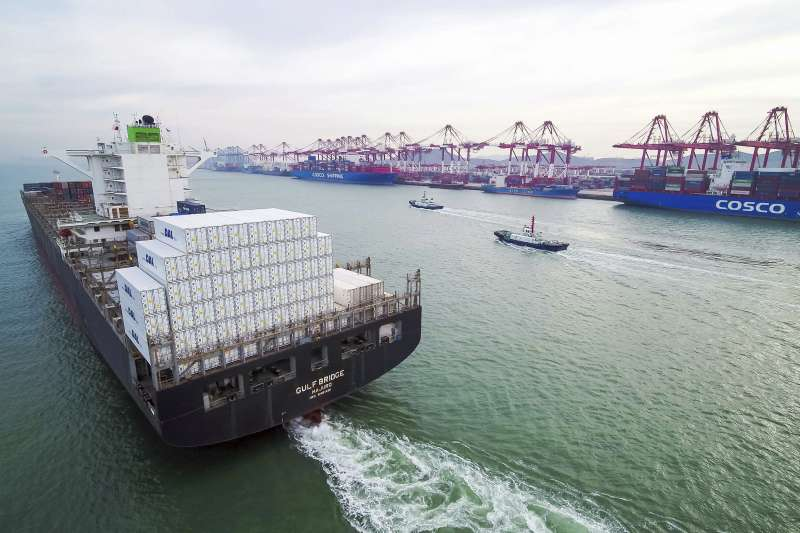 中美貿易戰陰影下的中國經濟(AP)