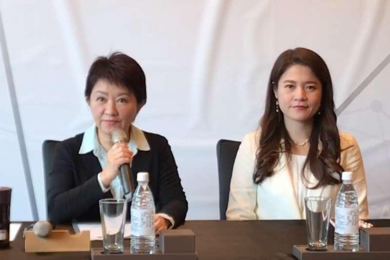 台中市長當選人盧秀燕今(23)日公布最新內閣名單,日前還在臉書上發求職文的「柯家軍」大學姐林筱淇也名列其中。(取自盧秀燕臉書直播)