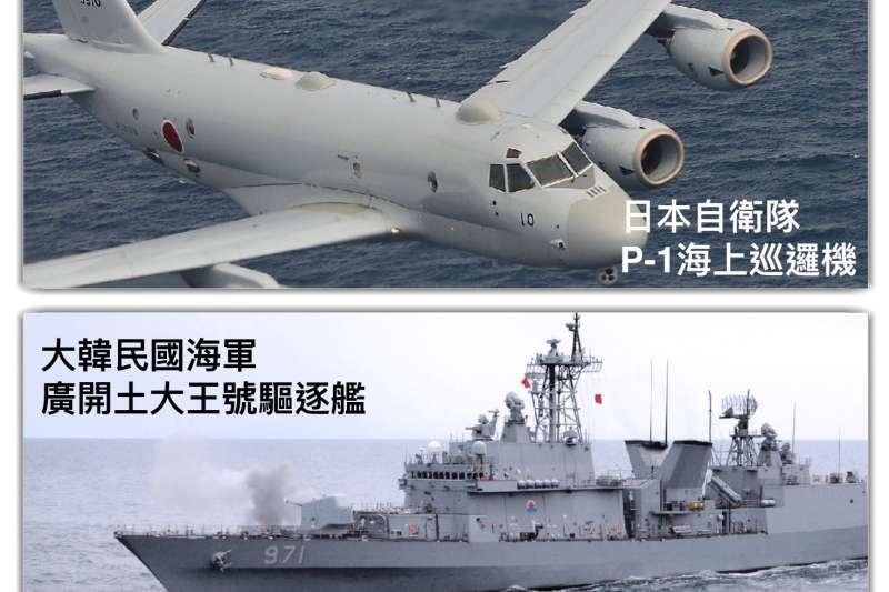 日本指控南韓軍艦以射控雷達瞄準自衛隊的P-1巡邏機,引發兩國關係緊張。