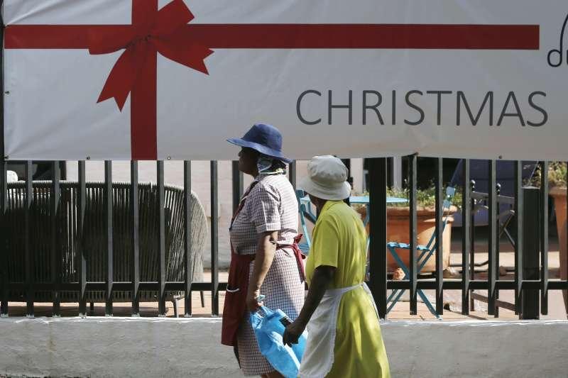 南非街頭的耶誕購物廣告(AP)