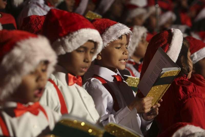 巴基斯坦基督教孩童慶祝耶誕(AP)