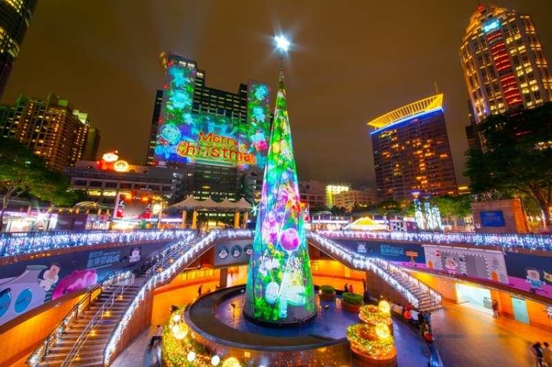 台灣新北市耶誕城(AP)