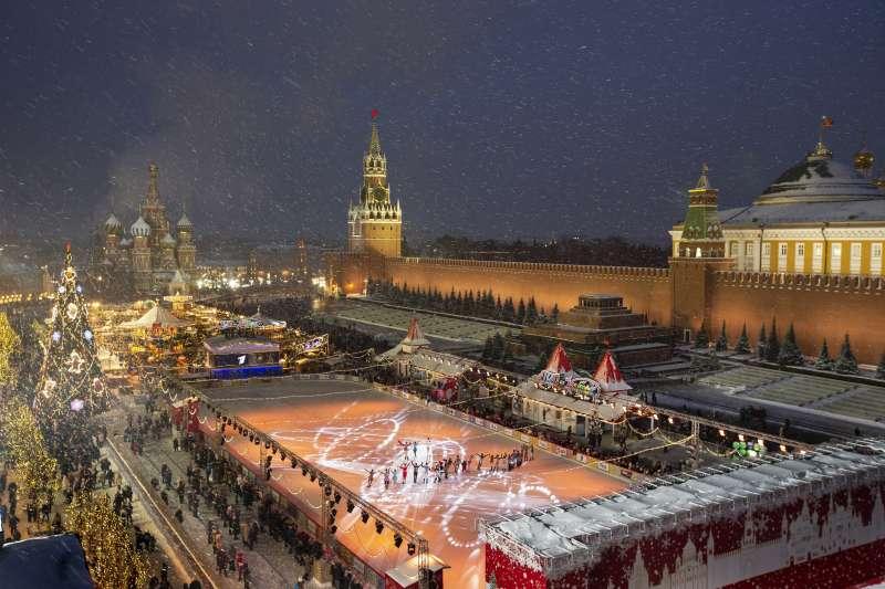 俄羅斯莫斯科紅場耶誕景緻(AP)