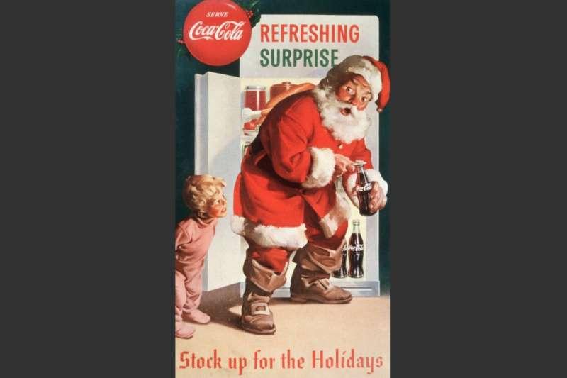 聖誕老人早期被可口可樂公司用作宣傳人物,後來演變成宣傳聖誕的人物。(BBC中文網)