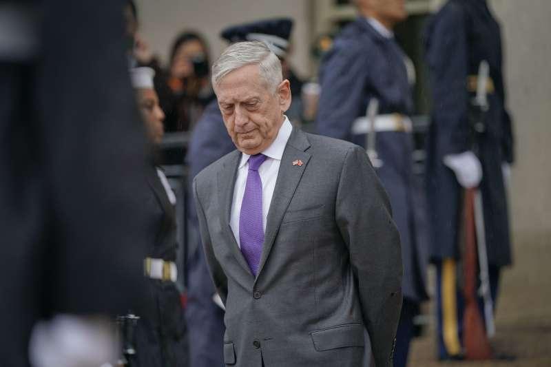 美國國防部部長馬提斯(Jim Mattis)(AP)