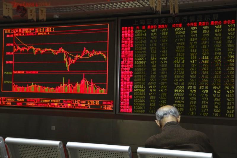 2018年12月25日,繼美國股市暴跌之後,日本和中國的股市也大幅下滑。  (AP)