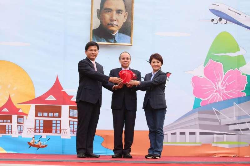 針對山手線議題,交通部長林佳龍(前任台中市長)與現任台中市長盧秀燕再度交鋒。(資料照,新新聞柯承惠攝)