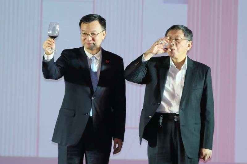 2018年的台北上海雙城論壇,首度拉高規格由國台辦指定第一副市長周波(左)與會。(柯承惠攝)