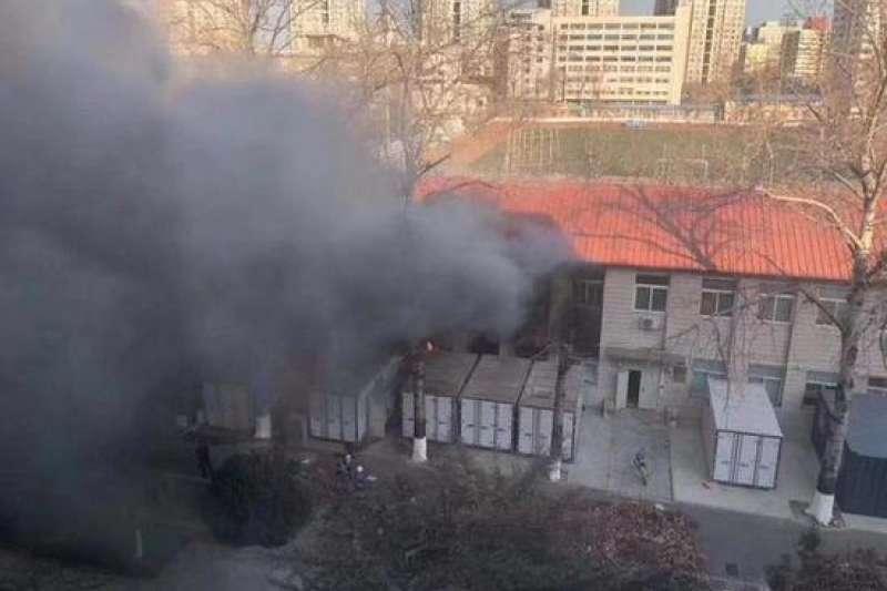 北京交通大學26日傳出爆炸。(翻攝微博)