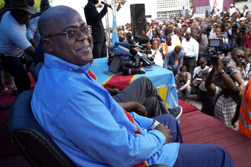 剛果民主共和國反對派總統候選人齊塞凱迪(Félix Tshisekedi)(AP)