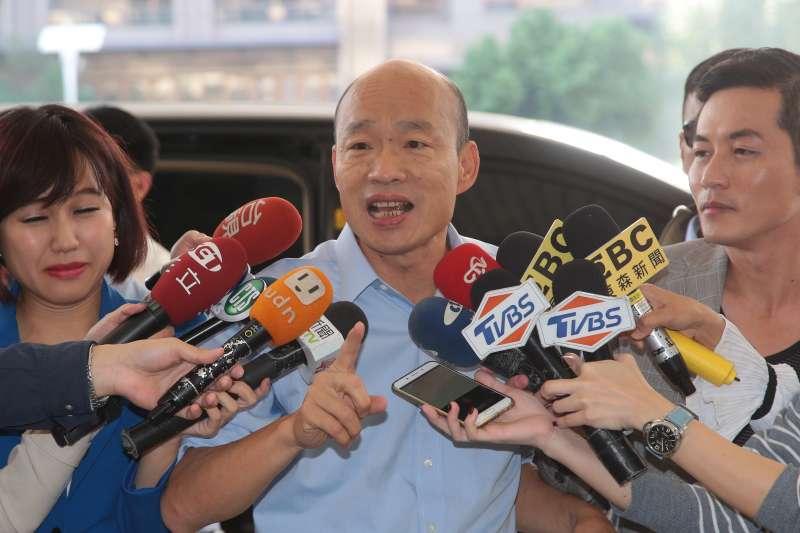 20181226-高雄市長韓國瑜26日於市府接受媒體聯訪。(顏麟宇攝)