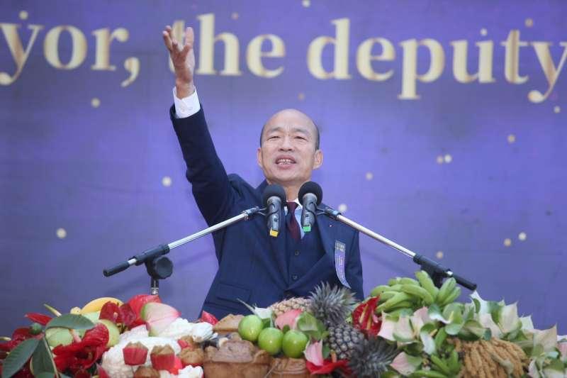 高雄市長韓國瑜上任後今首度參加行政院院會,他向行政院表達3點意見,希望未來建立中央地方密切合作。(圖/高雄市政府提供)