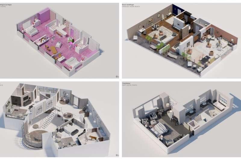 飯店房間常常是創造出經典電影最為重要的空間。(圖/瘋設計;風傳媒合成)