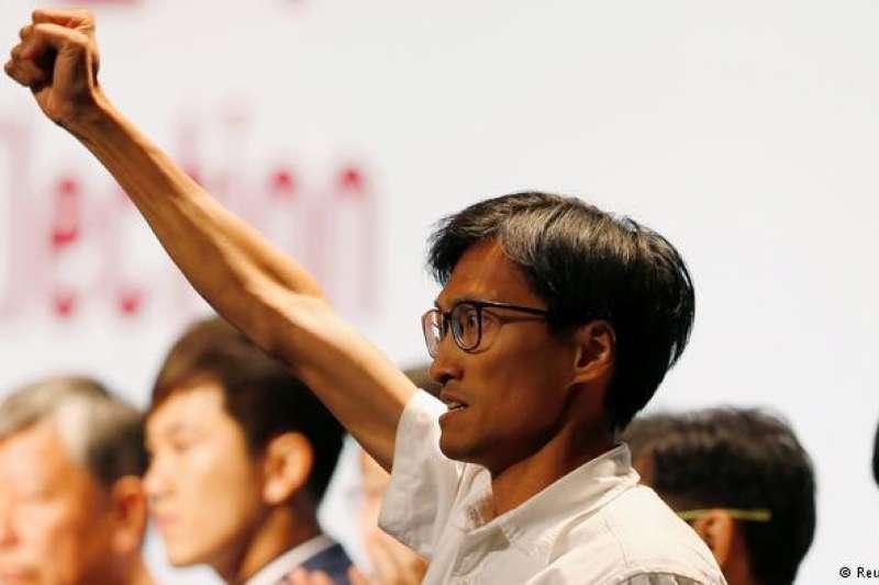 香港本土派議員朱凱迪被指隱晦支持港獨而被取消參選村代表資格。 (德國之聲)