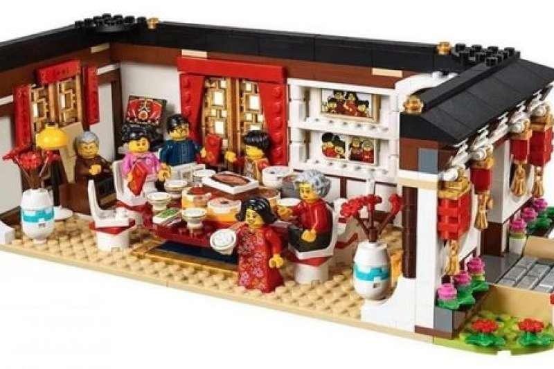 用樂高積木堆起來的中國新年場景,整個可愛到不行!(圖/城市美學新態度)